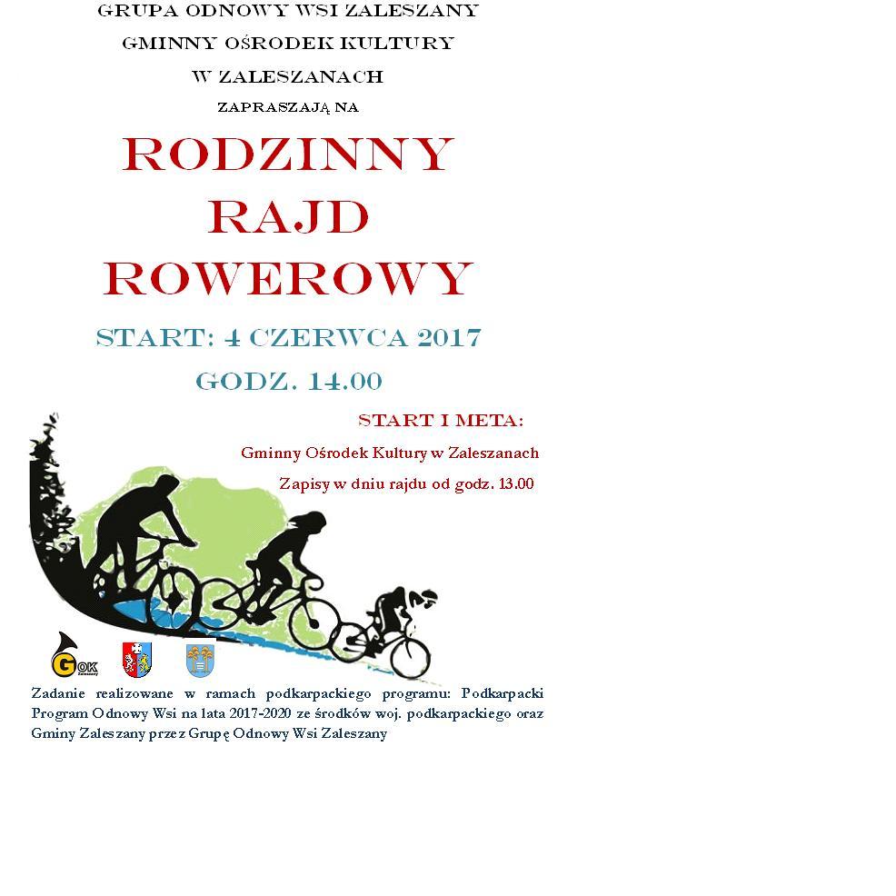 Rodzinny Rajd Rowerowy- start 4 czerwca godz. 14.00