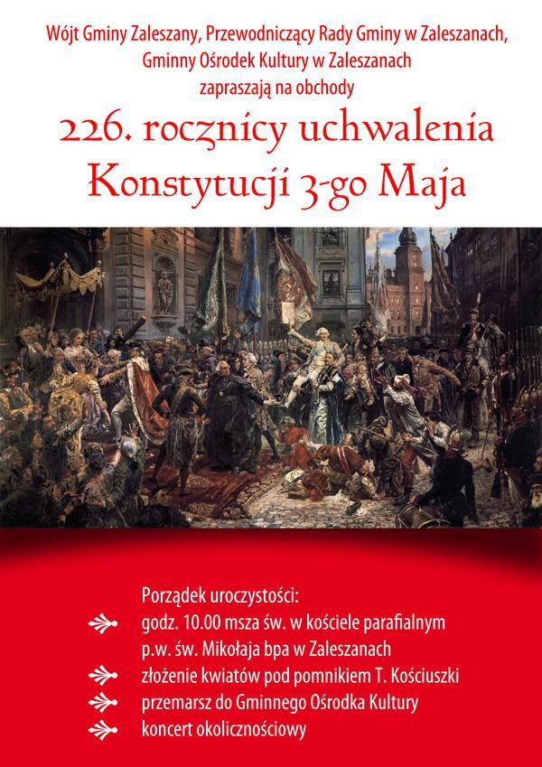 226.rocznica uchwalenia Konstytucji 3-go Maja